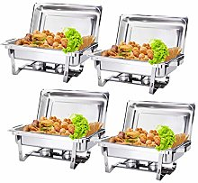 Display4top Rectangle Chafing Dish Set 9L Full