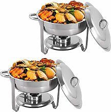 Display4top Round Chafing Dish Set 3.5L Full Size