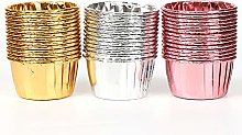 Disposable Colorful Aluminum Cupcake Cups for
