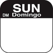 Dissolvable Food Rotation Labels - Sunday (Box