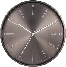 Distinct 40cm Wall Clock Karlsson Colour: Dark Grey