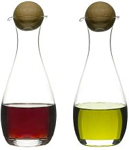Distinctly Living - Oil And Vinegar Set With Oak