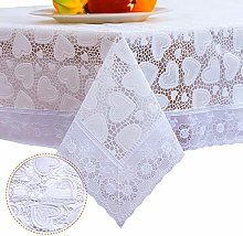 DITAO Rectangular Vinyl Lace Tablecloth Waterproof