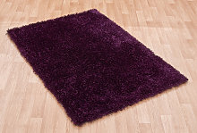 Diva Diva Purple Rectangle Plain/Nearly Plain Rug