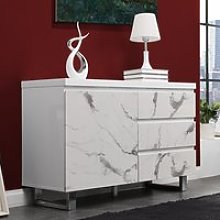 Diva Small White Gloss Sideboard With 3 Drawers