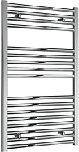 Diva Steel Straight Chrome Heated Towel Rail