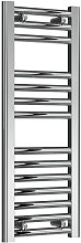 Diva Steel Straight Chrome Heated Towel Rail 800mm