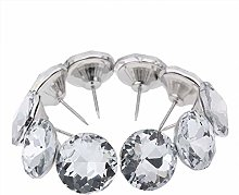 DivanBedsDeals 10pcs Nails Buttons Diamond Crystal