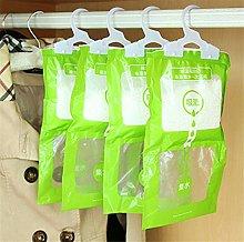 DIVISTAR 4 pcs Hangable wardrobe moisture-proof