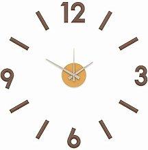 DIY 3D Brown Plastic Wall Clock