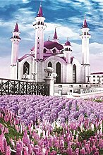 DIY 5D Diamond Painting Kits Lavender Castle Full