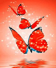 DIY 5D Diamond Painting Kits Red Butterfly Full