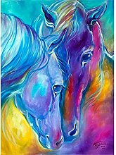DIY 5D Diamond Painting Kits Two Horses Full Drill