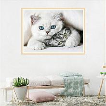 DIY 5D Diamond Painting S10106 Cat 40X30 Full