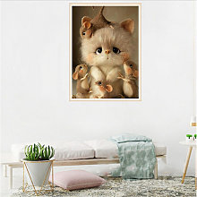 DIY 5D Diamond Painting S10110 Cat and Mouse 40X30