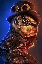 DIY 5D Steampunk owl Full Diamond Painting Cross