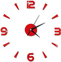DIY Clock On The Wall Innovation Design Mirror