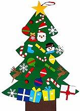 DIY Felt Christmas Tree Set with 30 pcs Detachable