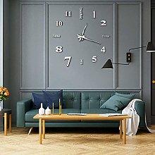 DIY Frameless 3D Wall Clock Sticker, Modern Large