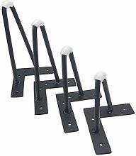 DIY Iron Bench Legs, 4pcs Furniture Legs, Heavy