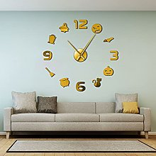 DIY Large Wall Clock - Halloween DIY 3D Wall Clock