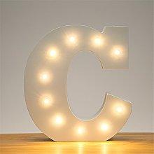 DIY LED White Letter Lights Alphabet Event