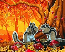 DIY Number Painting Drawing Canvas Autumn