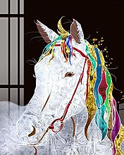 DIY Oil Painting Canvas Painting Kit Horses with