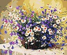 DIY Oil Painting Flower Basket - Painting Number