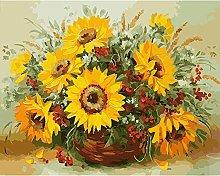 DIY Oil Painting Sunflower Basket - Painting