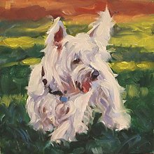 DIY Paint by Numbers for Adults Westie Dog Paint