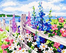 DIY Paint by Numbers Kit for Adults - Flowers |