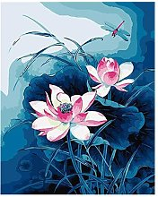 DIY Paint by Numbers Kit for Adults - Lotus