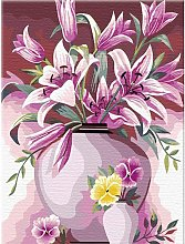 DIY Paint by Numbers Kit for Adults - Pink Flowers