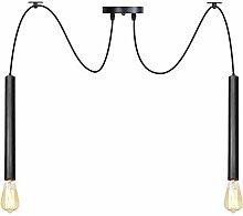 DIY Pendant Lights, Adjustable Wire Black Metal