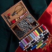 DIY Premium Sewing Supplies,Wooden Sewing Basket