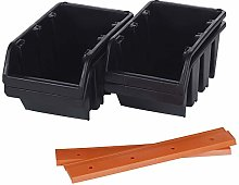 DIY Storage Bin Wall Buckets (2, Large (Pack of 4))
