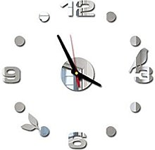 DIY Wall Clock,3D Mirror Clock Creative Acrylic