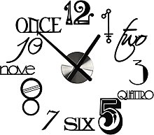 DIY Wall Clock Abstract Style Silent Acrylic Large