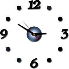 DIY Wall Clock Frameless Mute Wall Stickers 40