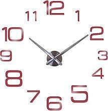 DIY Wall Clock,New Modern Big Quartz Living Room