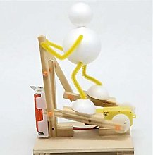 Diy Wooden Electric Science Treadmill Toy Model