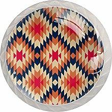 Dizzying Geometry White Crystal Drawer Handles