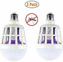 DJDL 2 Pack Mosquito Killer LED Bulb, 220V 15W Bug