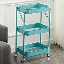 DJFIOSD Storage Trolley on Wheels in Home Kitchen,