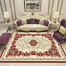 DJHWWD Rug For Bedroom Beige red classic floral