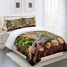 DJHYT 4 PCS Duvet Cover Set - 3D Bed sheet Bedding