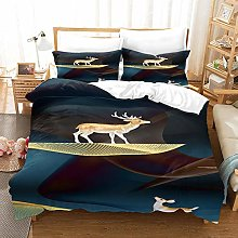 DJHYT 4 PCS Duvet Cover Set - 3D Bedding Bed