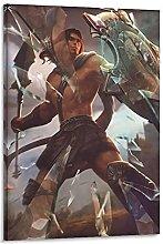 DJNGN Achilles Myrmidon Canvas Art Poster and Wall