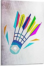 DJNGN Badminton Abstract Art Canvas Art Poster and